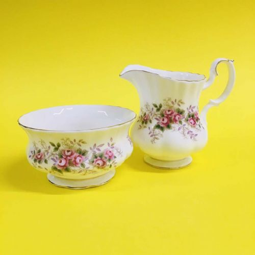 Royal Albert - Lavender Rose  - Milk Jug Creamer  and Sugar Bowl